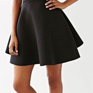 Silence + Noise black neoprene circle skirt